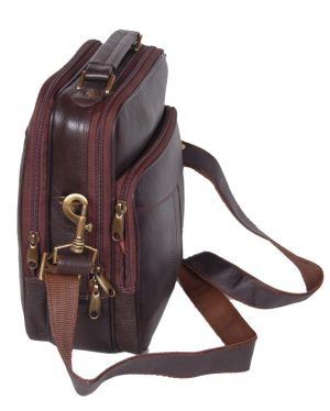 Buy Pe 9 Inch 100% Genuine Leather Sling Bag online