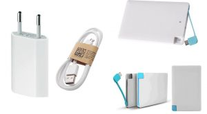 Buy Fliptech OEM Charger With 2500mah Credit Card Power Bank For Samsung Galaxy Trend Plus online