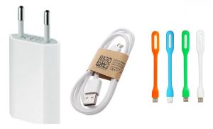 Buy Fliptech OEM White USB 1 Amp Travel Charger With USB Light For Micromax Canvas Fire 4 A107 online