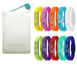 Buy Samsung Slim Credit Card Power Bank - 2600mah With LED Watch (oem) online