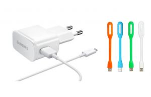 Buy Fliptech OEM Hi Quality White USB Travel Charger With USB Light For Samsung Galaxy Light online