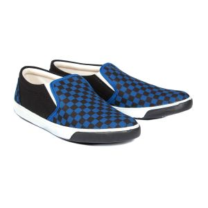 Buy Blue-tuff Mens Canvas Casual Blue Check Shoes online