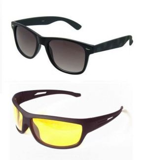 Buy Night Driving & Wayfarer Sunglasses - Buy 1 Get 1 Free online