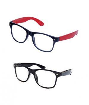 Buy Wayfarer Style Sunglasses - Red & Black Buy 1 Get 1 Free online