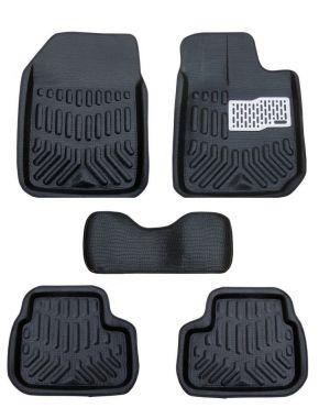 Buy MP Premium Quality Car 4d Croc Textured Floor Mat Black - Tata Vista online