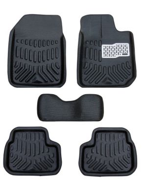 Buy MP Premium Quality Car 4d Croc Textured Floor Mat Black-skoda Octavia online