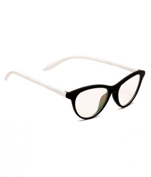 Buy Blue-tuff Girls Antiglare Cateye Frame White-black online