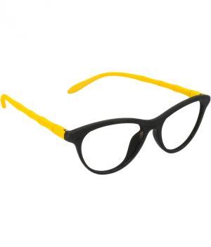 Buy Blue-tuff Girls Antiglare Cateye Frame Black-yellow online