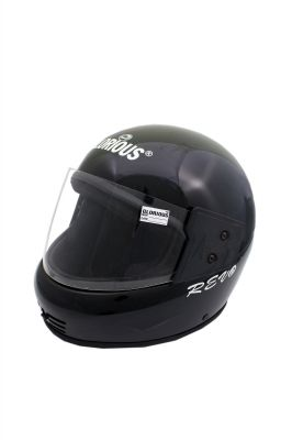 Buy MP Glorious Black Full Face Motorcycle Scooter Helmet For Gents/boys With Isi Mark Full Blk online