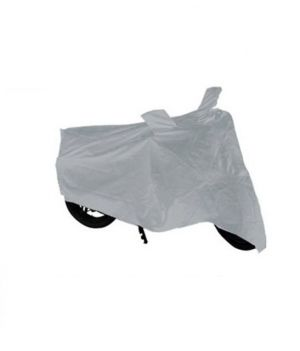 Buy MP Hero Passion Pro Bike Body Cover Silver Colour With Mirror Pockets online