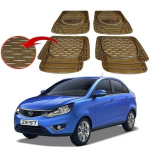 Buy MP Premium Smoke Car Floor/foot Mats Set Of 4 - Tata Zest online