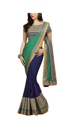 Buy See More Embroidered Georgette Saree For Women online