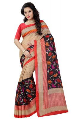 Buy See More Multicolor Printed Bhagalpuri Saree online