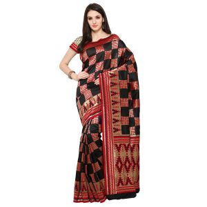 Buy See More New Black Colour Colour Self Design Solid Silk Banarasi Saree online