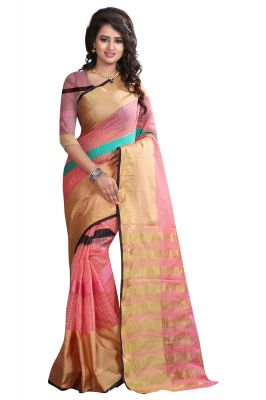 Buy See More Self Designer  Baby Pink  Color  Net Saree With Blouse Piece online