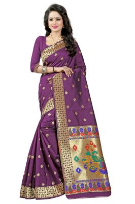 Buy See More Magneta Color Paithani Silk Saree online