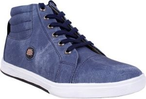 Buy Semana Blue Canvas Casual Shoe online