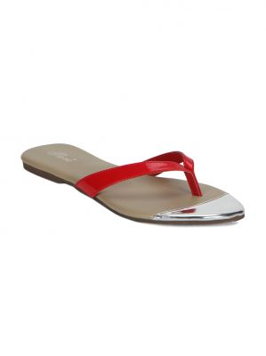 Buy Flora Red Flat Comfort Womens Slip-on - Fr-0202-05 online
