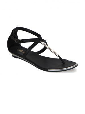 Buy Flora Black Flat Comfort Womens Sandal - Fr-4255-01 online