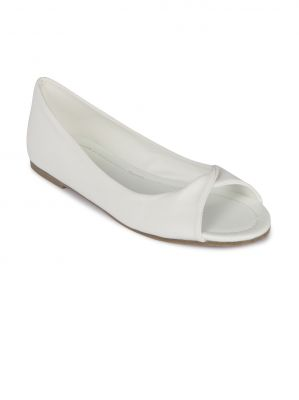 Buy Flora White Synthetic Leather Casual Bellies For Women online