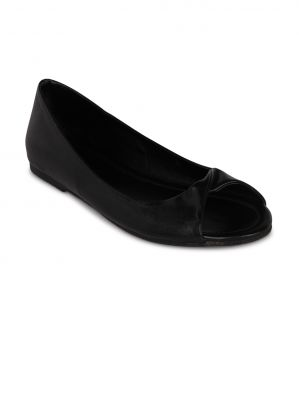 Buy Flora Black Synthetic Leather Casual Bellies For Women online