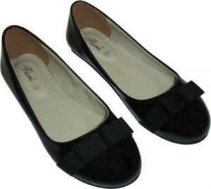 Buy Flora Black Artificial Leather Casual Bellies For Women online