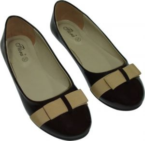 Buy Flora Brown Artificial Leather Casual Bellies For Women online