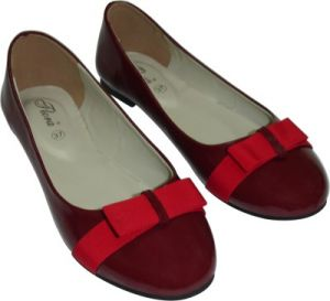 Buy Flora Red Artificial Leather Casual Bellies For Women - (product Code - Fr-8004-05) online