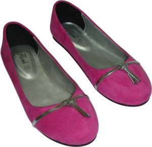 Buy Flora Pink Suede Casual Bellies For Women online