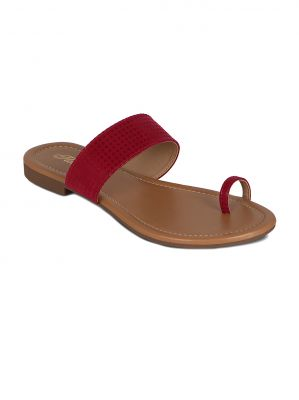 Buy Flora Red Suede Casual Slip online