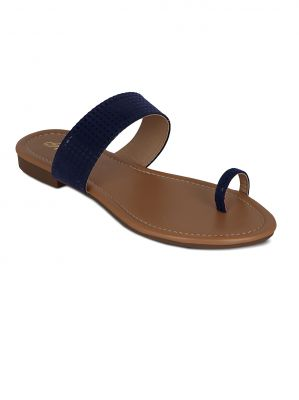 Buy Flora Blue Suede Casual Slip-on For Women - (product Code - Pf-0115-18) online