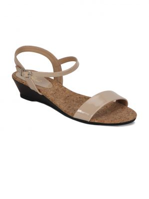 Buy Flora Cream Wedges Womens Sandal online