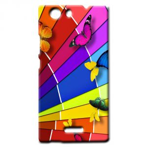 pretty nice 9784c fc939 Ddf Butterfly Print Plastic Mobile Back Cover For Micromax Canvas Nitro 2  E311 - (product Code - Hc 111)