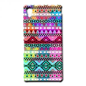 Buy Ddf Neon Aztec Print Plastic Mobile Back Cover For Sony Xperia M4 Aqua - (