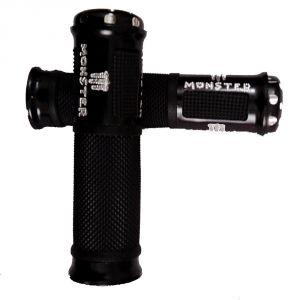 Buy Capeshoppers Monster Designer Black Bike Handle Grip For Hero Motocorp Ignitor 125 Drum online