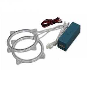 Buy Capeshoppers Angel Eyes Ccfl Ring Light For Bajaj Discover 150 F- Blue Set Of 2 online