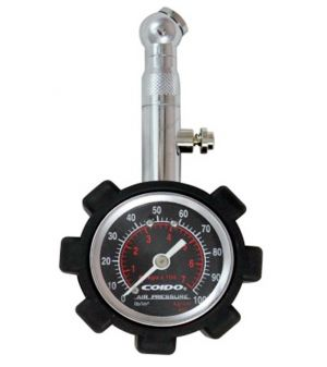 Buy Capeshoppers Coido Metallic Pressure Guage With Analog Meter For Hero Motocorp Impulse 150 online