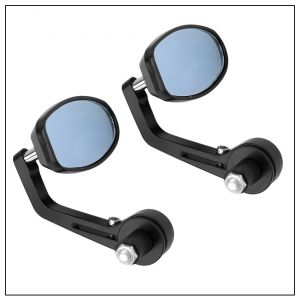 Buy Capeshoppers Bike Handle Bar End Rotatable Rear View Mirror For Mahindra Centuro O1 online