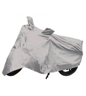 Buy Capeshoppers Bike Body Cover Silver For Bajaj Ct-100 online