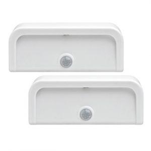 Buy Mrbeams Mb702 Wireless Motion Sensor Mini Stick Anywhere LED Night Lights,white,2-pack online