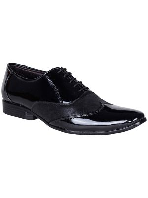 Buy Bachini Black Lace Up Formal Shoes For Mens (product Code - 1587-black) online