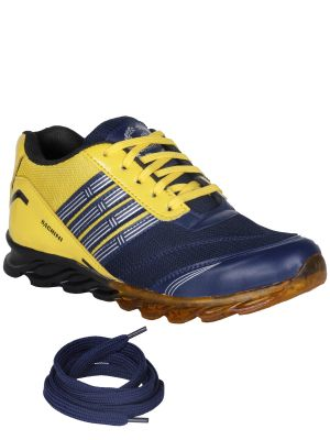 Buy Bachini Yellow Mens Sports Shoes online