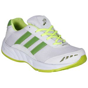 Buy Bachini White Green Sport Shoes For Men (product Code - 1608-white Green) online