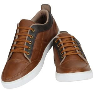 Buy Tan Casual Sneakers For Men from Agra online