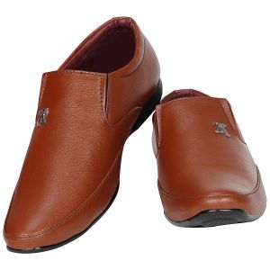 Buy Tan Formal Slip On For Men from Agra online