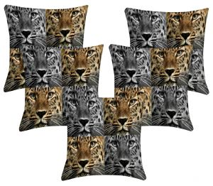 Buy Lushomes Digital Print Animal Cushion Covers (pack Of 5) online