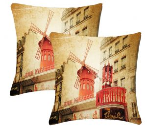 Buy Lushomes Digital Print Windmill Cushion Covers (pack Of 2) online