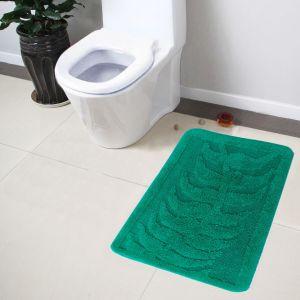 Buy Lushomes Ultra Soft Cotton Vivial Green Regular Bathmat online