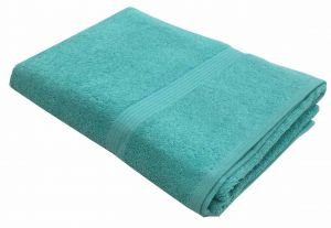 Buy Lushomes Ultra Soft Unidyed Sea Green Terry Bath Towel (650 GSM) online