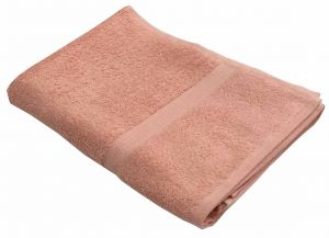 Buy Lushomes Ultra Soft Unidyed Peach Terry Bath Towel (650 GSM) online
